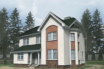 Минидворец с полноценными этажами и мягкой крышой